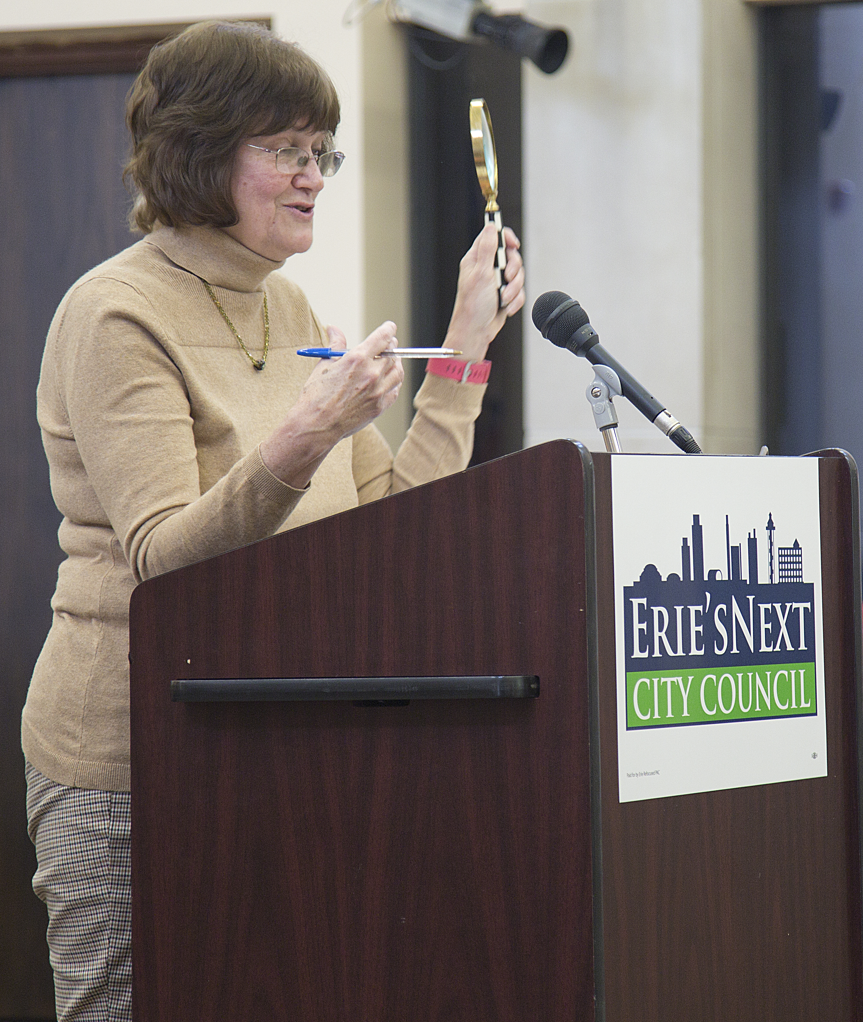 Erie City Council Candidate Liz Allen. Photo by Maitham Basha-Agha.