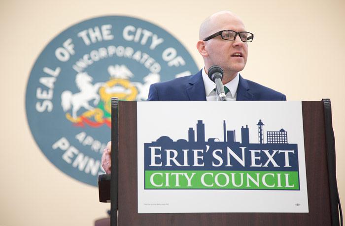 Erie City Council Candidate Kevin Otteni. Photo by Maitham Basha-Agha