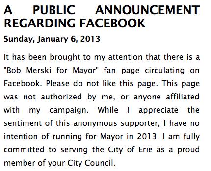 Merski Public Announcement