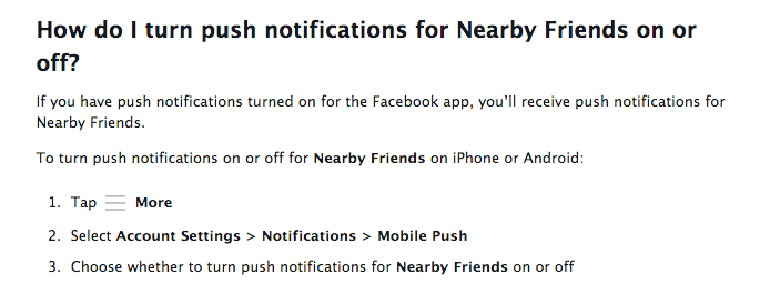 FB Push Notifications