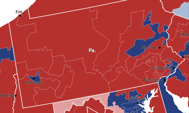 Election Night Pa. Map