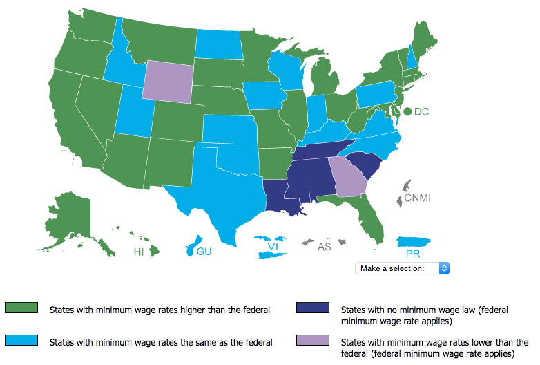 Minimum Wage by State