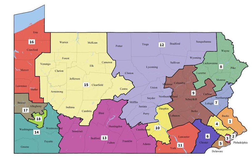 new PA map