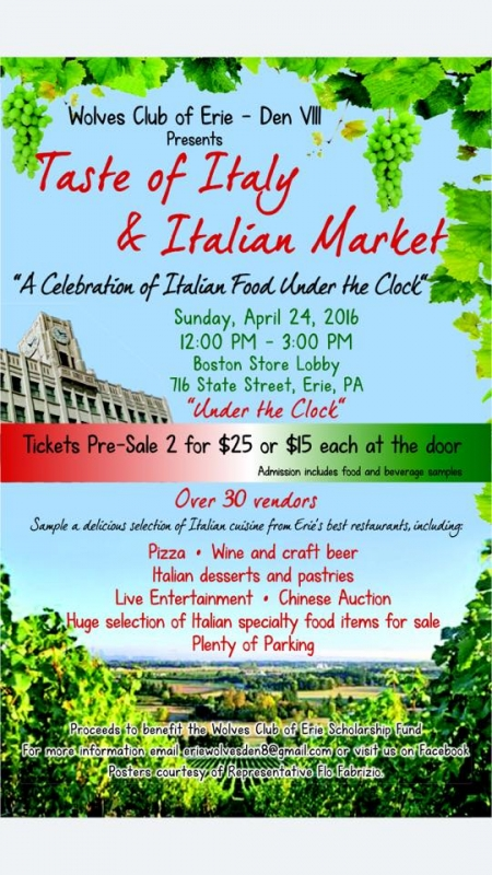 Taste of Italy Raises Funds for Local Students by Angie Jeffery