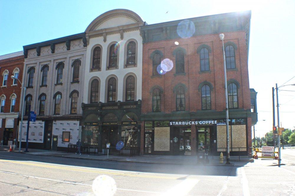 <p>Starbucks along State Street. Photo by Nick Warren.</p>