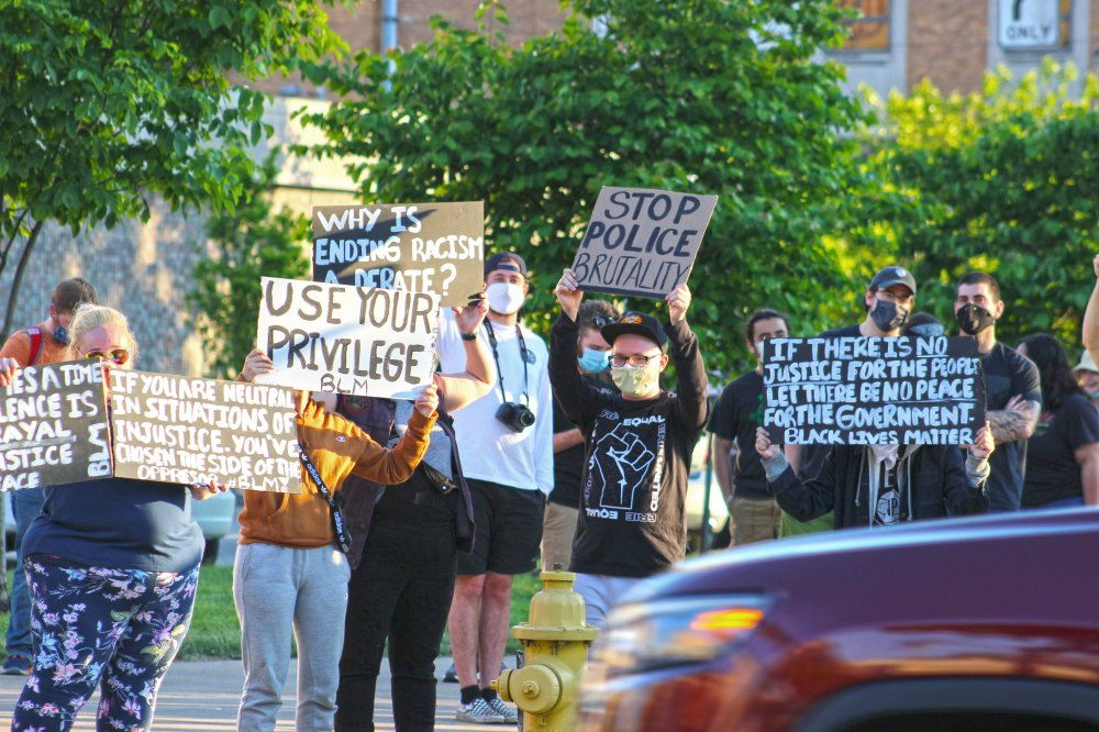 <p>Peaceful Demonstration - Monday, June 15. Photo by Nick Warren</p>