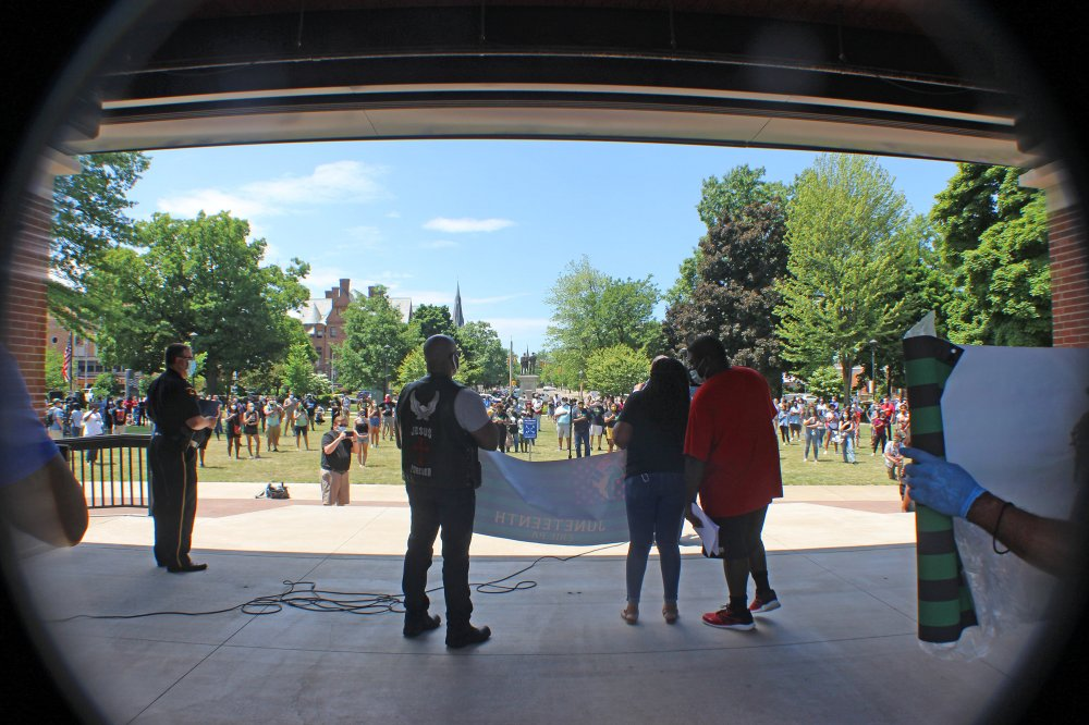 <p>Perry Square, Erie, PA June 19, 2020 – Juneteenth Celebration.</p>