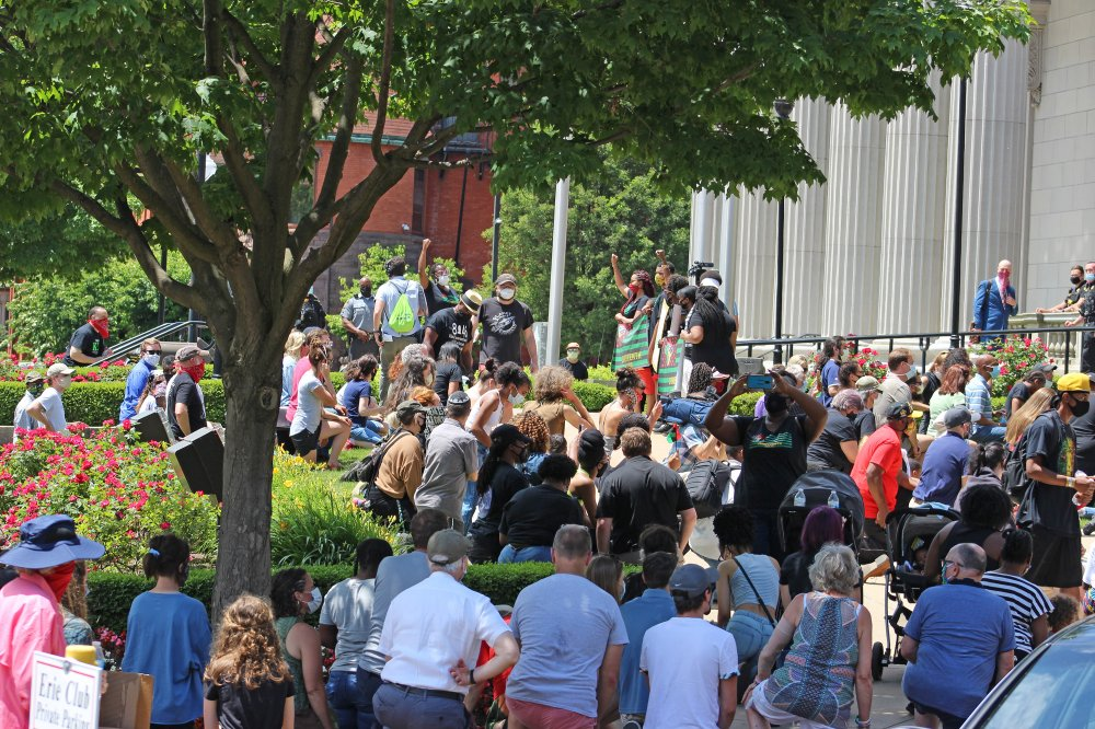 <p>Erie County Courthouse, Erie, PA June 19, 2020 – Juneteenth Celebration.</p>