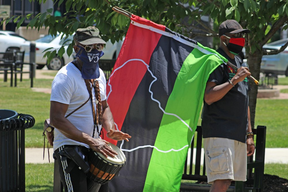<p>From Perry Square to Erie County Courthouse, Erie, PA June 19, 2020 – Juneteenth Celebration.</p>