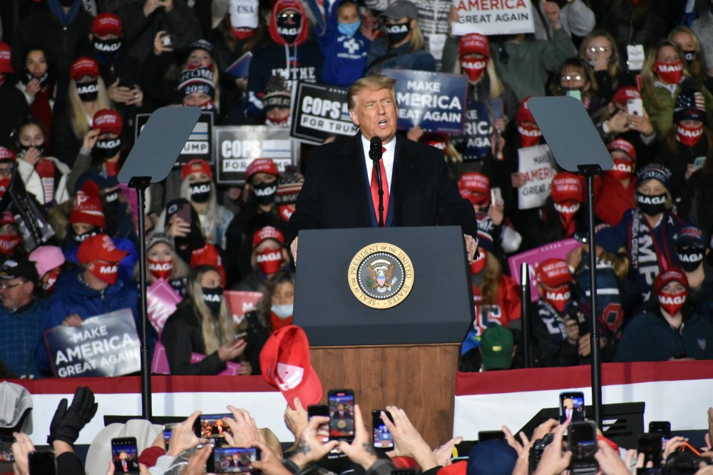 <p>President Donald Trump. Make America Great Again rally in Erie, PA</p>