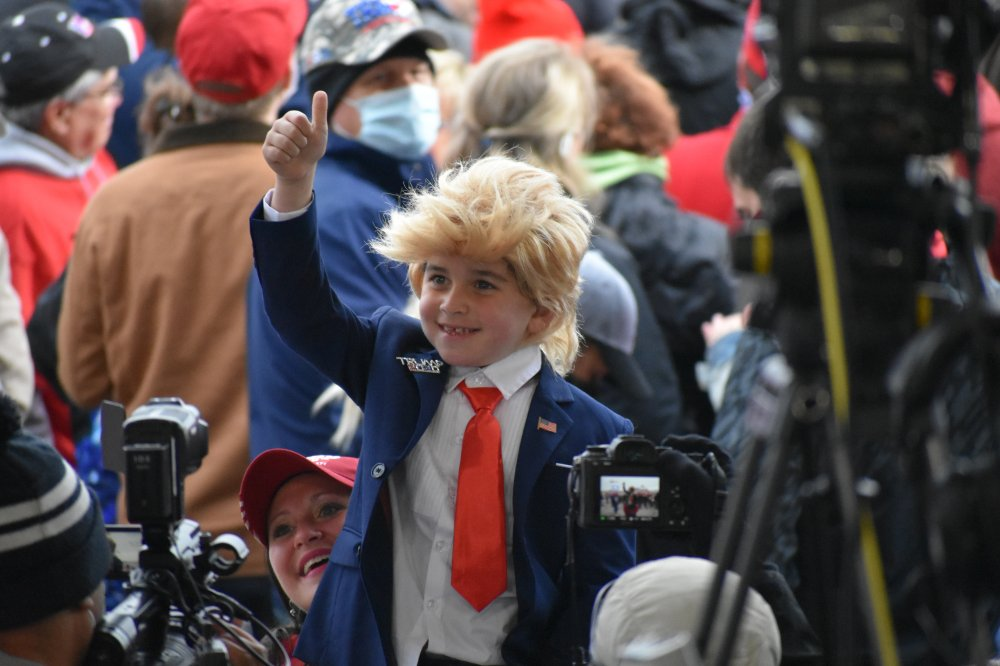 <p>Make America Great Again rally in Erie, PA</p>