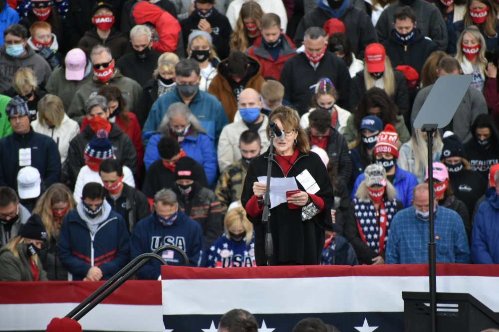 <p>Prayer at Make America Great Again rally in Erie, PA</p>