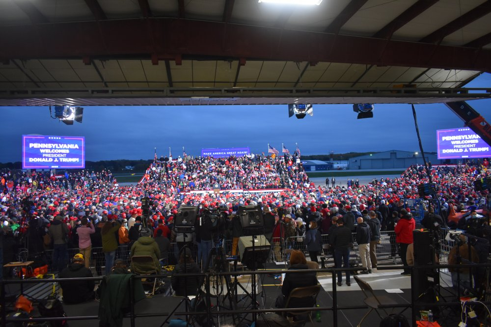 <p>Make America Great Again Rally Erie, PA</p>