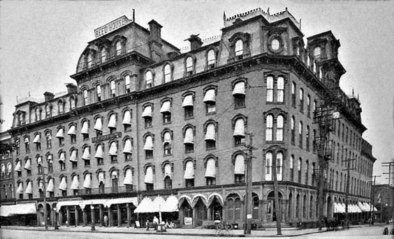"<p><span style=""color: #3c4043; font-family: Roboto, Arial, sans-serif; font-size: 16px; letter-spacing: 0.1px; white-space: pre-wrap;"">This is an archived photo of the Reed House hotel, where John A Lawrence (Emma's husband) worked as a waiter before his death at age 28. This hotel was at the corner of North Park Row and French streets across from Perry Square. It is now a parking lot.</span></p>"