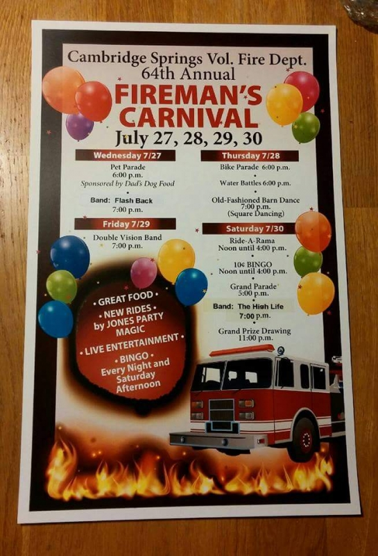 Cambridge Springs Fireman's Carnival is on by Ryan Smith