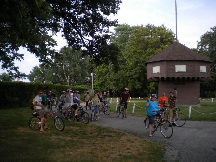 Critical Mass Rolls through Erie by Ben Speggen