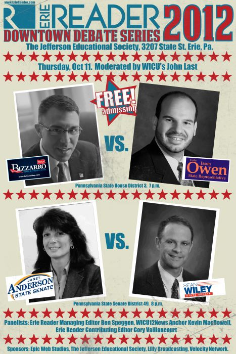 You Ought to Know: Your Erie Reader 2012 Downtown Debate Candidates by Cory Vaillancourt