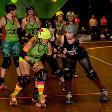 Eerie Roller Girls Seek to Stay Jamming by Matt Swanseger