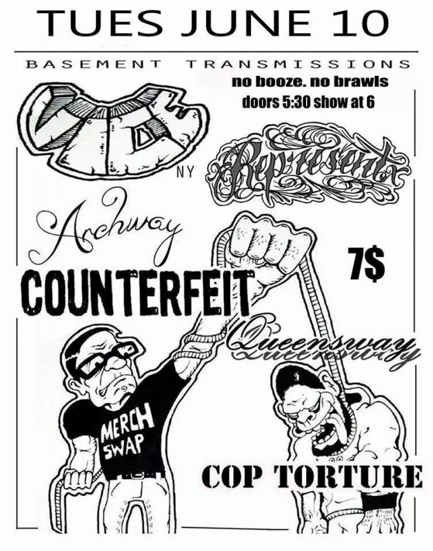 xRepresentx, Vice, Counterfeit, Cop Torture at BT by Tommy Shannon