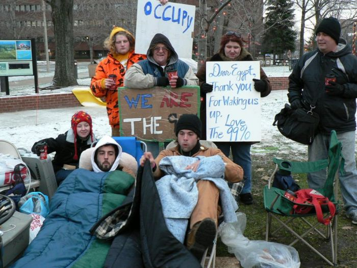 City Dismantles Occupy Erie Tents, Arrests One by Jay Stevens