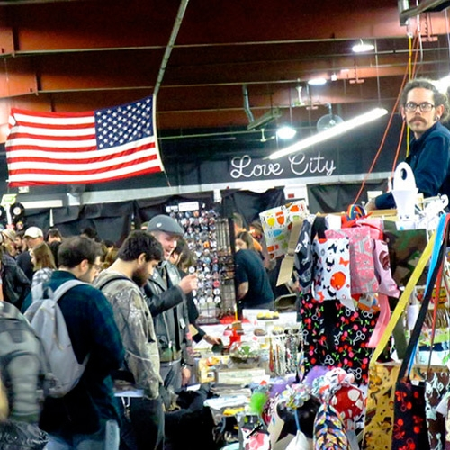 Punk Rock Flea Market at Basement Transmissions by Tommy Shannon