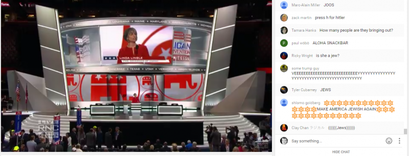 RNC Youtube Chat Pulled Over AntiSemitic Comments by Jim Wertz
