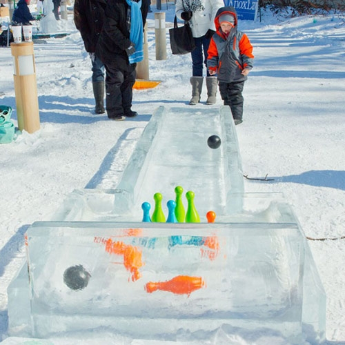 Dollar Duck Race and Recycled Sleds at Winterfest '17 by Ti Sumner