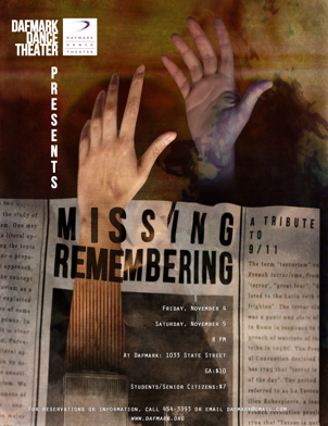Dafmark Preview: ?Missing, Remembering; a Tribute to 9/11? by Ben Speggen