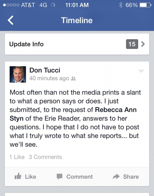 Erie County Executive candidate Don Tucci's Social Media Gaffe by The Editors