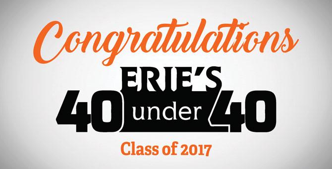 """Erie's 2017 """"40 Under 40"""""""